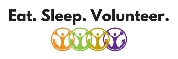 Eat Sleep Volunteer Logo